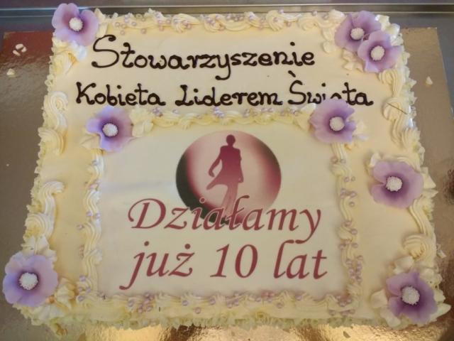tort, cukiernictwo, jubileusz, 10 lat, Stowarzyszenie Kobieta Liderem Świata